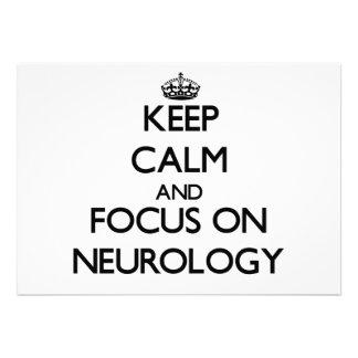 Keep Calm and focus on Neurology Custom Invitations