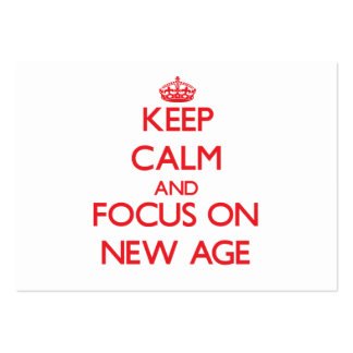 Keep Calm and focus on New Age Business Card
