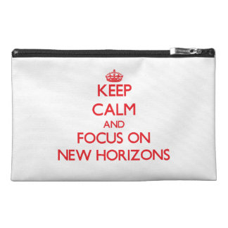 Keep Calm and focus on New Horizons Travel Accessories Bags