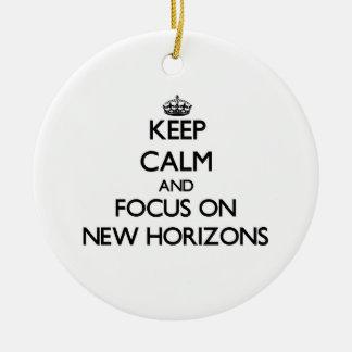 Keep Calm and focus on New Horizons Christmas Tree Ornament