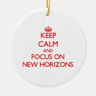 Keep Calm and focus on New Horizons Ornaments