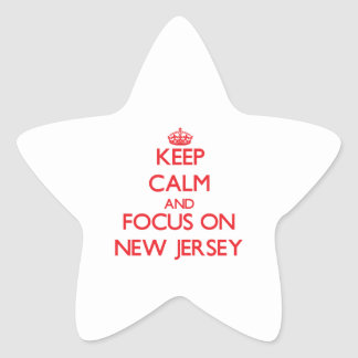 Keep Calm and focus on New Jersey Sticker