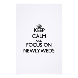 Keep Calm and focus on Newlyweds Stationery Design