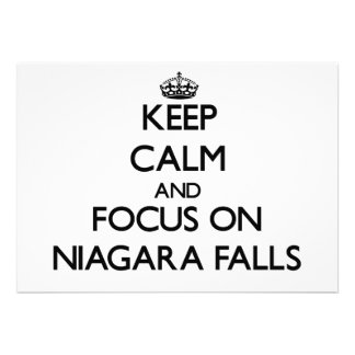 Keep Calm and focus on Niagara Falls Personalized Announcements