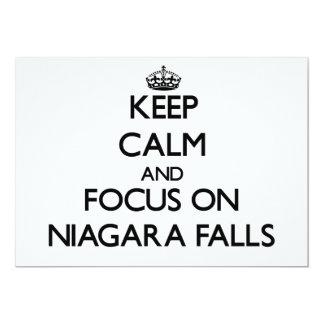 Keep Calm and focus on Niagara Falls 5x7 Paper Invitation Card