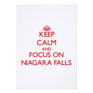 Keep Calm and focus on Niagara Falls Custom Announcement