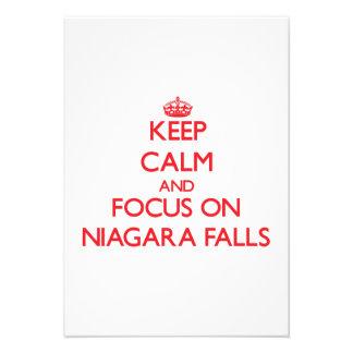 Keep Calm and focus on Niagara Falls Personalized Invitation