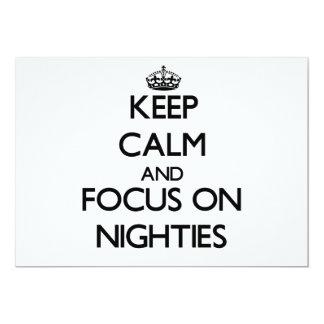 Keep Calm and focus on Nighties Custom Invitation