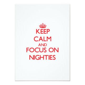 Keep Calm and focus on Nighties Invites