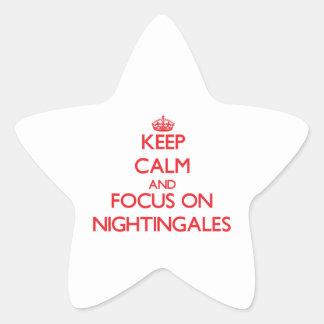 Keep Calm and focus on Nightingales Star Sticker