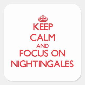 Keep Calm and focus on Nightingales Sticker