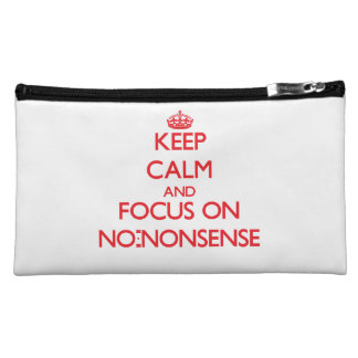 Keep Calm and focus on No-Nonsense Cosmetics Bags