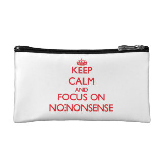 Keep Calm and focus on No-Nonsense Makeup Bags