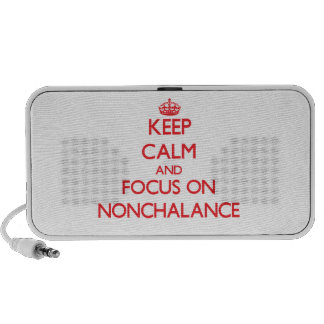 Keep Calm and focus on Nonchalance Portable Speaker