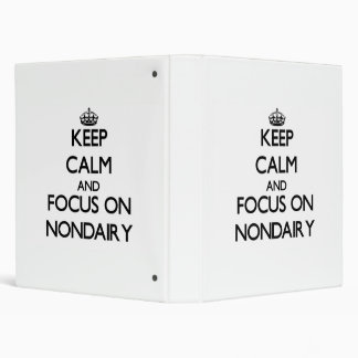 Keep Calm and focus on Nondairy Binder