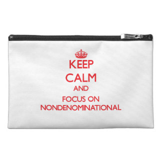 Keep Calm and focus on Nondenominational Travel Accessories Bag
