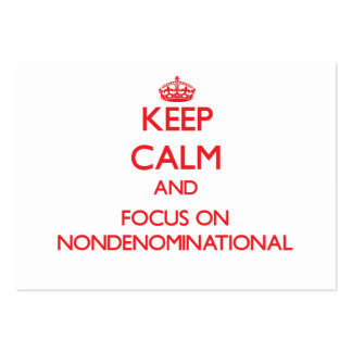 Keep Calm and focus on Nondenominational Large Business Cards (Pack Of 100)