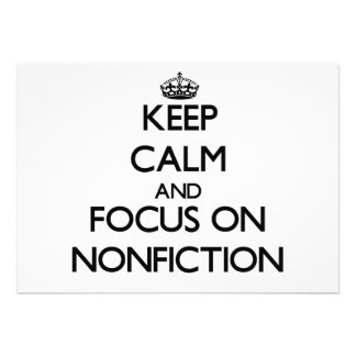 Keep Calm and focus on Nonfiction Personalized Announcement