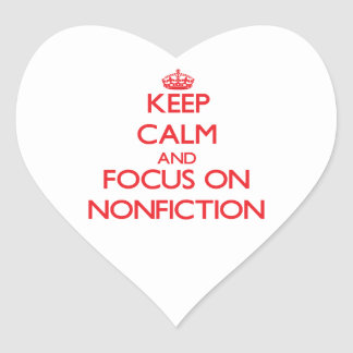 Keep Calm and focus on Nonfiction Stickers