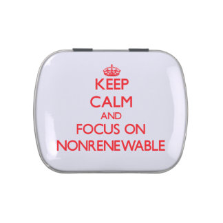 Keep Calm and focus on Nonrenewable Jelly Belly Tins