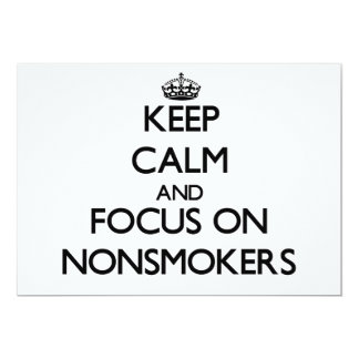 Keep Calm and focus on Nonsmokers Personalized Announcement