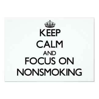 Keep Calm and focus on Nonsmoking Cards