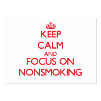 Keep Calm and focus on Nonsmoking Large Business Cards (Pack Of 100)