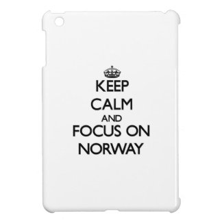 Keep Calm and focus on Norway iPad Mini Cover