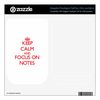Keep Calm and focus on Notes FreeAgent GoFlex Skin