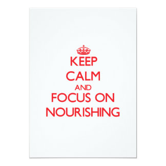 Keep Calm and focus on Nourishing Personalized Announcements