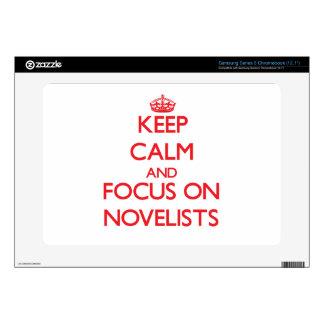 Keep Calm and focus on Novelists Samsung Chromebook Decals