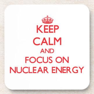 Keep Calm and focus on Nuclear Energy Drink Coaster