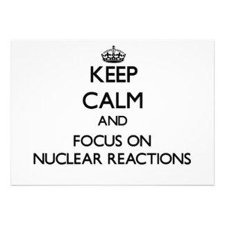 Keep Calm and focus on Nuclear Reactions Card