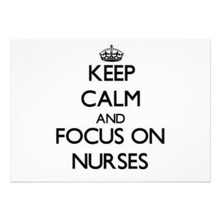 Keep Calm and focus on Nurses Card