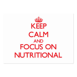 Keep Calm and focus on Nutritional Business Card