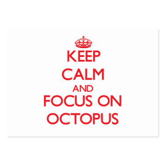 Keep Calm and focus on Octopus Business Cards