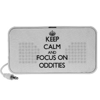Keep Calm and focus on Oddities Mp3 Speakers