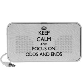 Keep Calm and focus on Odds And Ends Laptop Speakers