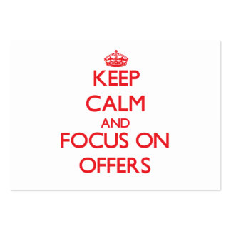 Keep Calm and focus on Offers Large Business Cards (Pack Of 100)