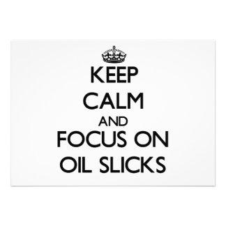 Keep Calm and focus on Oil Slicks Custom Invites
