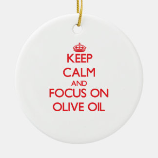 Keep Calm and focus on Olive Oil Christmas Ornaments