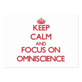 Keep Calm and focus on Omniscience Business Card Template
