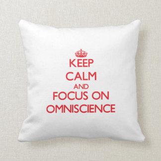 Keep Calm and focus on Omniscience Throw Pillow