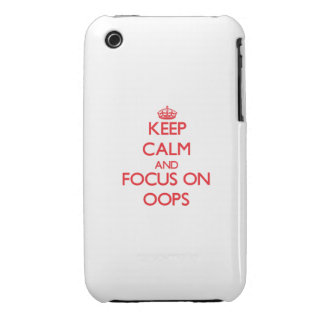 kEEP cALM AND FOCUS ON oOPS iPhone 3 Covers