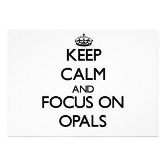 Keep Calm and focus on Opals Custom Invitation