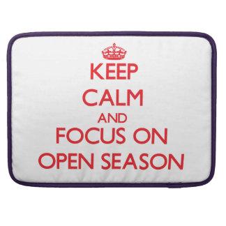 kEEP cALM AND FOCUS ON oPEN sEASON MacBook Pro Sleeve