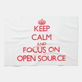 Keep calm and focus on Open Source Kitchen Towels