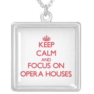 kEEP cALM AND FOCUS ON oPERA hOUSES Pendants