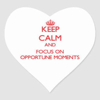 Keep Calm and focus on Opportune Moments Sticker