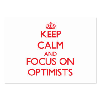 Keep Calm and focus on Optimists Large Business Cards (Pack Of 100)